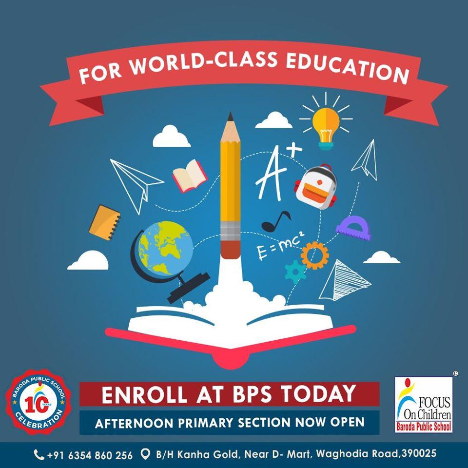 world class educaiton at bps vadodara